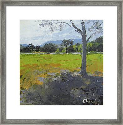 Framed Print featuring the painting Kenilworth Landscape Queensland Australia by Chris Hobel