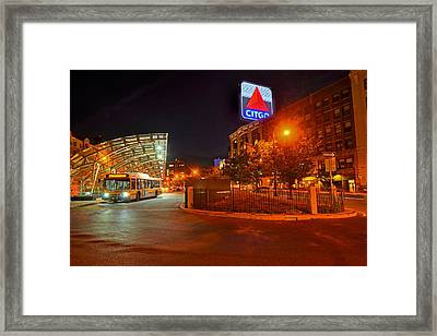 Kenmore Square Green Line Stop Framed Print by Toby McGuire