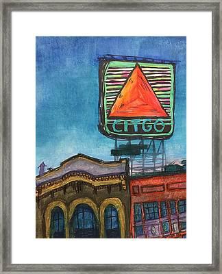 Kenmore Square Neon Citgo Framed Print