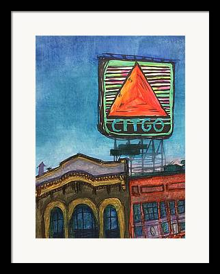 Rooftop Mixed Media Framed Prints