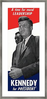 Kenndy For President Framed Print
