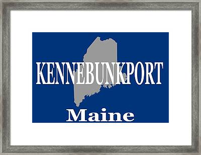 Framed Print featuring the photograph Kennebunk Maine State City And Town Pride  by Keith Webber Jr