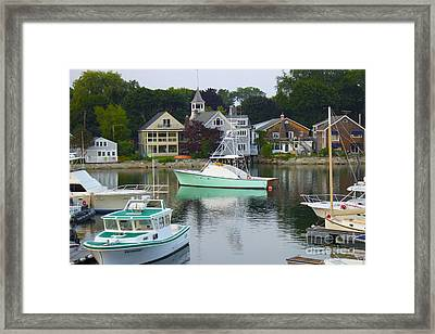 Kennebunkport Harbor Framed Print by Alice Mainville