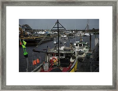 Kennebunkport Harbor In Early Winter Framed Print