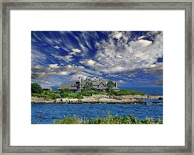 Kennebunkport, Maine - Walker's Point Framed Print by Russ Harris