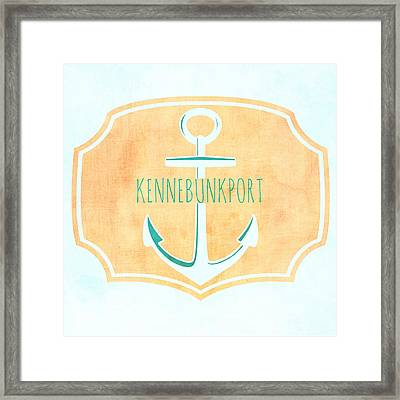 Kennebunkport Sea Anchor Framed Print