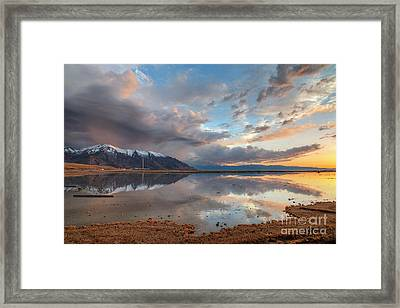 Framed Print featuring the photograph Kennecott And The Oquirrhs by Spencer Baugh