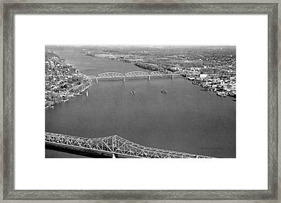 Kennedy Bridge Construction Framed Print