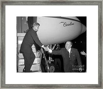 Framed Print featuring the photograph Kennedy Daley 1960 by Martin Konopacki Restoration