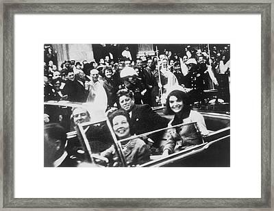 Kennedy Dallas Motorcade Framed Print