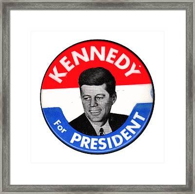 Kennedy For President Framed Print