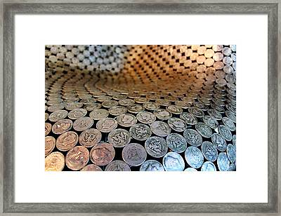 Kennedy Half Dollar's Framed Print by Russ Harris