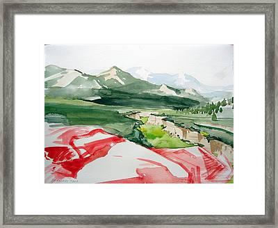 Kennedy Meadows Framed Print by Amy Bernays