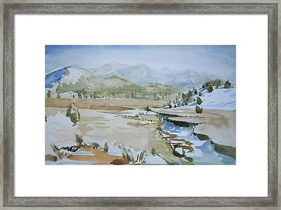 Kennedy Meadows Half In Winter Framed Print by Amy Bernays