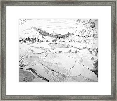 Kennedy Meadows Sunset On A Winters Day Framed Print by Amy Bernays