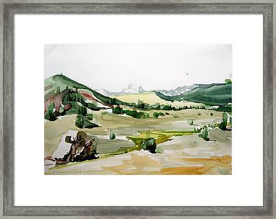 Kennedy Meadows The Dome Lands Framed Print by Amy Bernays