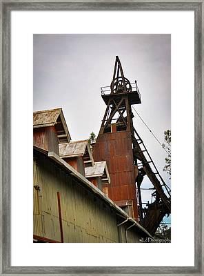 Kennedy Mine Headframe Framed Print