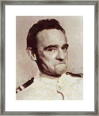 Kenneth Connor, Carry On Actor Framed Print by Sarah Kirk