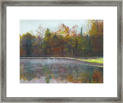 Kennison Pond  Framed Print by Laurel Ellis