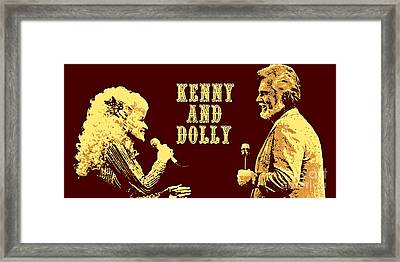 Kenny And Dolly Poster Framed Print by Pd