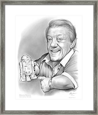 Kenny Baker R2d2 Framed Print by Greg Joens