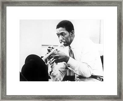 Kenny Dorham Framed Print by American School
