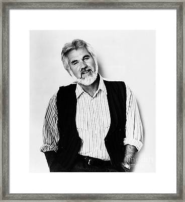Kenny Rogers (1938-) Framed Print by Granger