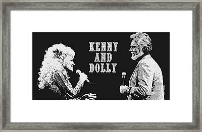 Kenny Rogers And Dolly Parton Framed Print by Pd