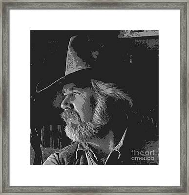 Kenny Rogers Art Framed Print by Pd