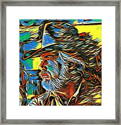 Kenny Rogers Painting Poster Framed Print by Pd