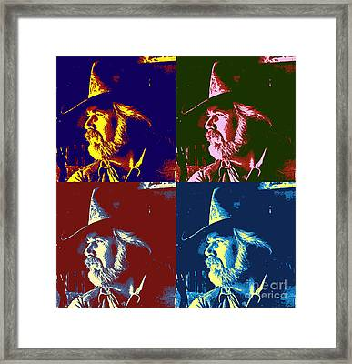 Kenny Rogers Pop Art Framed Print by Pd