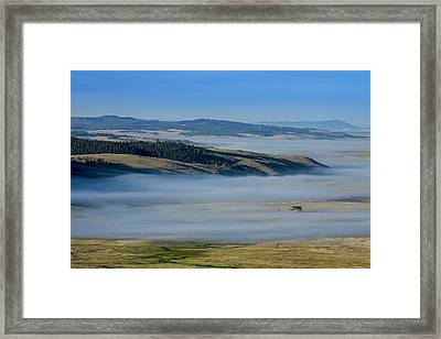 Kenosha Pass Clouds Framed Print