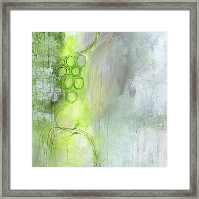 Kensho- Abstract Art By Linda Woods Framed Print