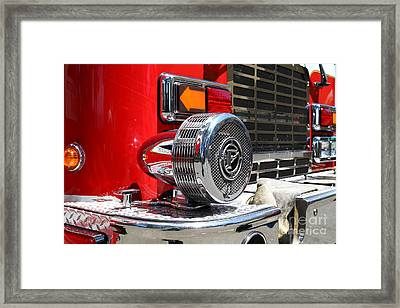 Kensington Fire District Fire Engine Siren . 7d15879 Framed Print by Wingsdomain Art and Photography