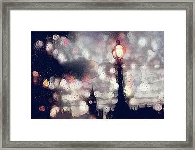 Kensington Rain Framed Print