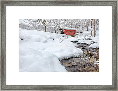 Kent Connecticut Winter Stream Framed Print by Bill Wakeley