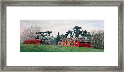 Kent Country Houses Framed Print by Debbie Homewood