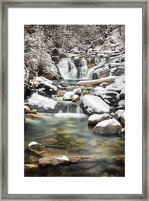 Kent Falls Cascade 2016 Framed Print by Bill Wakeley