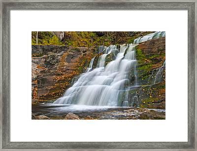 Kent Falls Framed Print by David Freuthal