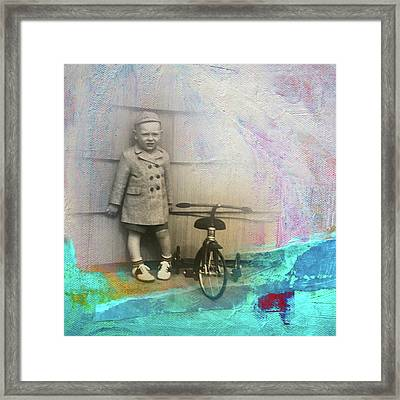 Framed Print featuring the mixed media Kent Tricycle by Nancy Merkle