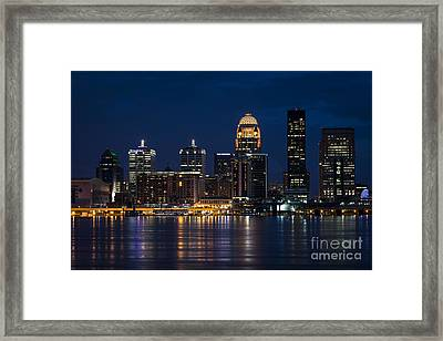 Louisville At Night Framed Print