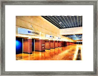 Kentucky Blue Doors At Rupp Arena Framed Print by Mel Steinhauer