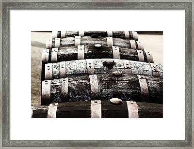 Kentucky Bourbon Barrels Framed Print