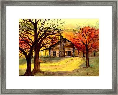 Kentucky Cabin Framed Print by Gail Kirtz