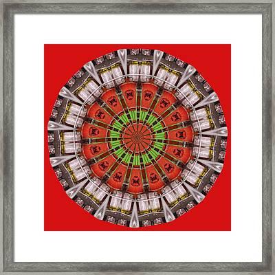 Kentucky Derby Glasses Kaleidoscope 1 Framed Print