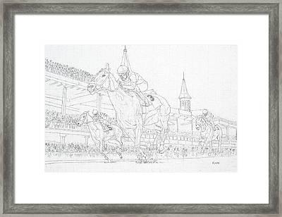 Kentucky Derby - Win, Place, Show Framed Print
