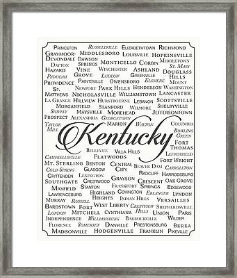 Kentucky Framed Print by Finlay McNevin