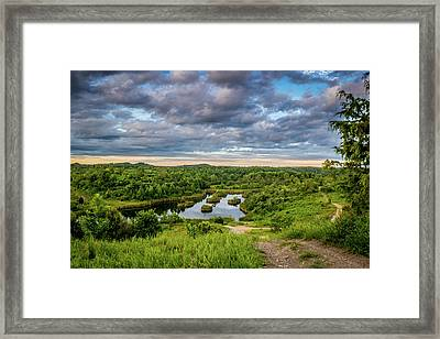 Kentucky Hills And Lake Framed Print