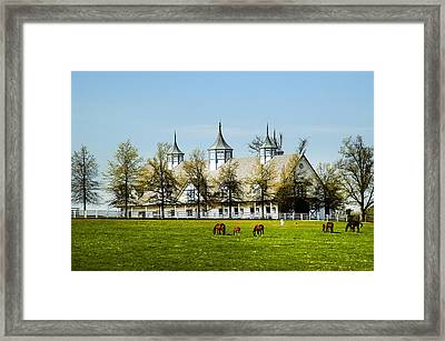 Revised Kentucky Horse Barn Hotel 2 Framed Print by Randall Branham
