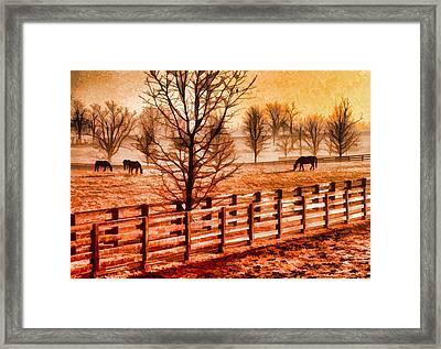 Kentucky Horse Farm  Framed Print by Dennis Cox WorldViews